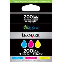 14L0269 (200XL) High-Yield Ink, Cyan, Magenta, Yellow, 3/Pk