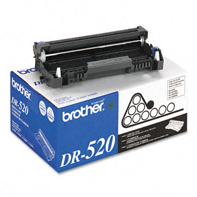 DR520 Drum Cartridge, 25000 Page-Yield, Black