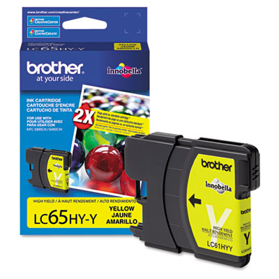 LC65HYY (LC-65HYY) High-Yield Ink, 750 Page-Yield, Yellow