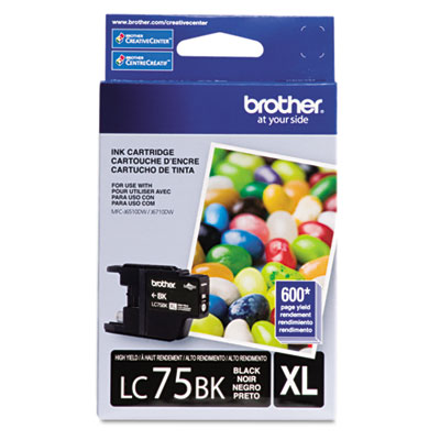 LC75BK (LC-75BK) High-Yield Ink, 600 Page-Yield, Black