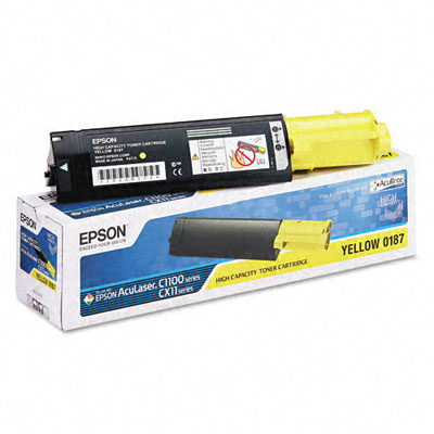 S050187 Toner, 4000 Page-Yield, Yellow