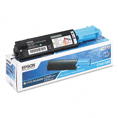 S050189 Toner, 4000 Page-Yield, Cyan