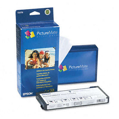 PictureMate Ink Cartridge/Paper Combo Print Pack w/100 4 x 6 Sheets