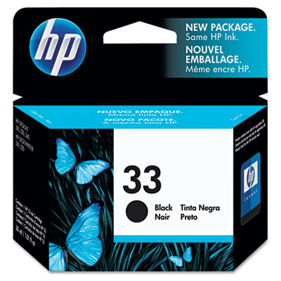 51633M (HP 33) Ink, 480 Page-Yield, Black