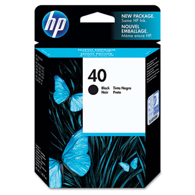 51640A (HP 40) Ink, 1100 Page-Yield, Black