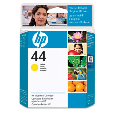 51644Y (HP 44) Ink, 1600 Page-Yield, Yellow