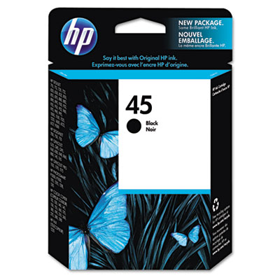 51645A (HP 45) Ink, 830 Page-Yield, Black