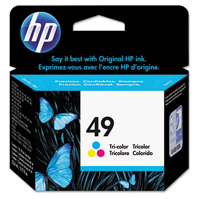 51649A (HP 49) Ink, 350 Page-Yield, Tri-Color