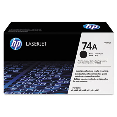 92274A (HP 74A) Toner, 3350 Page-Yield, Black