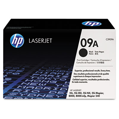 C3909A (HP 09A) Toner, 15000 Page-Yield, Black