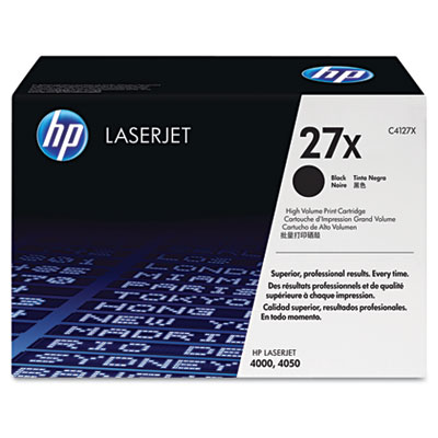C4127X (HP 27X) Toner, 10000 Page-Yield, Black