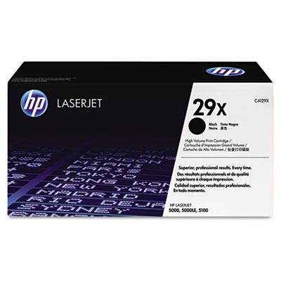 C4129X (HP 29X) Toner, 10000 Page-Yield, Black