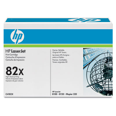 C4182X (HP 82X) High-Yield Toner, 20000 Page-Yield, Black