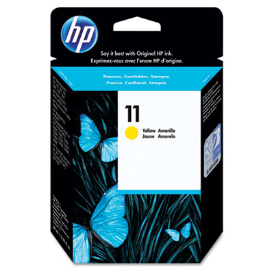 C4838A (HP 11) Ink, 2350 Page-Yield, Yellow