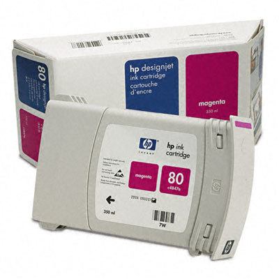 C4847A (HP 80) Ink, 2200 Page-Yield, Magenta