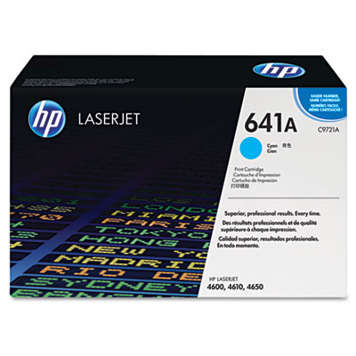 C9721A Toner, 8000 Page-Yield, Cyan