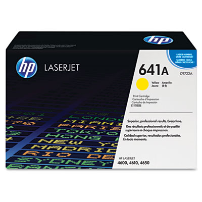 C9722A Toner, 8000 Page-Yield, Yellow