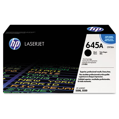 C9730A (HP 30A) Toner, 13000 Page-Yield, Black