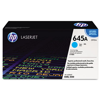 C9731A (HP 31A) Toner, 12000 Page-Yield, Cyan
