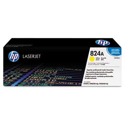 CB382A Toner, 21000 Page-Yield, Yellow