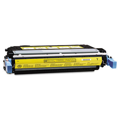 CB402A Toner, 7500 Page-Yield, Yellow