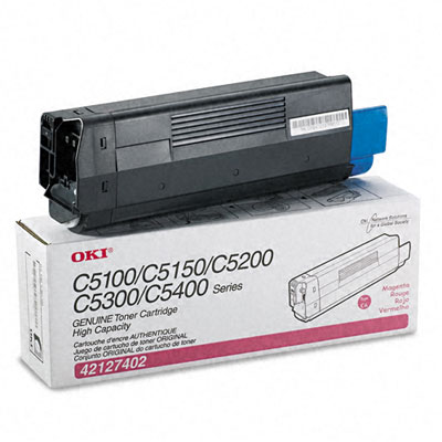 42127402 High-Yield Toner (Type C6), 5000 Page-Yield, Magenta